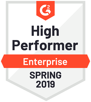 G2 High Performer Enterprise Spring 2019